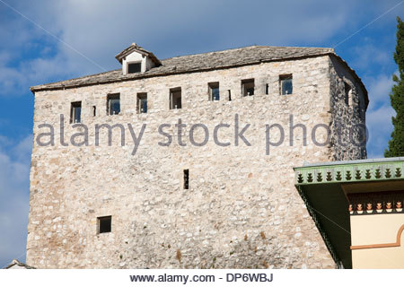 helebija tower,old town east side of mostar,bosnia and herzegovina,europe - Stock Photo