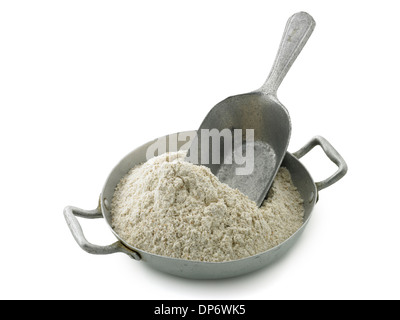 wholegrain spelt flour - Stock Photo