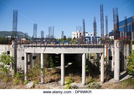 building under construction,west side,mostar,bosnia and herzegovina,europe - Stock Photo