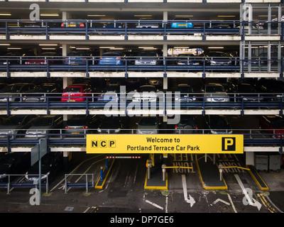 NCP Multistorey car park in Southampton city centre - Stock Photo