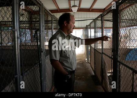 Nov 21, 2006; San Diego, CA, USA; CHRIS SHONEMAN, manager of the sonny Bono Wildlife Refuge at the Salton Sea, shows - Stock Photo