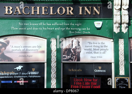 The Bachelor Inn which is a traditional pub and one of the oldest in Dublin - Stock Photo