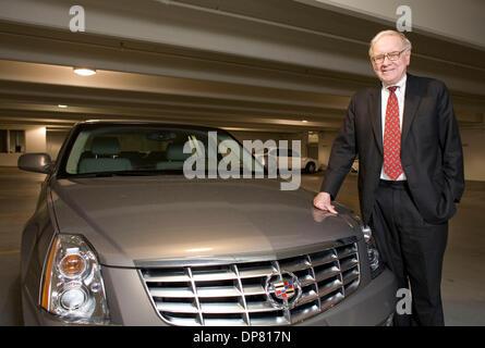 Apr 30, 2006 - Omaha, NE, USA - Businessman WARREN BUFFETT with his new Cadillac. (Credit Image: © James Colburn/ZUMA - Stock Photo