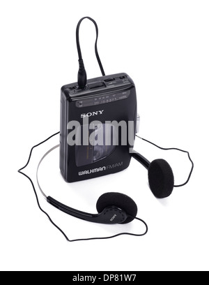 Sony Walkman personal cassette player and radio from the 1980's - Stock Photo