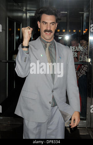 Oct 31, 2006 - New York, NY, USA - SACHA BARON COHEN at the CMJ FilmFest  which presented a screening of 'Borat - Stock Photo