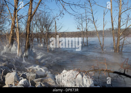 Chattanooga, Tennessee, USA  7th January, 2014  Unusually cold Stock