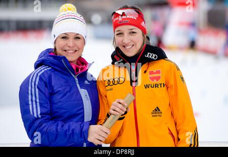 Ruhpolding, Germany. 09th Jan, 2014. Former biathletes Fritz