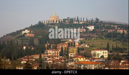 Verona - Santuario della Madonna di Lourdes from Caste San Pietro - Stock Photo