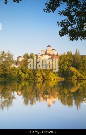 Trencin Castle, Trencin, Trencin Region, Slovakia - Stock Photo