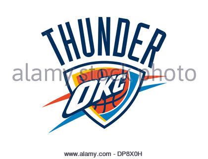 Oklahoma City Thunder Logo Flag Icon Symbol Emblem Stock Photo