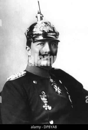 Emperor Wilhelm II. in 1917, who was born on the 27th of January in 1859 and died on the 4th of June in 1941 in - Stock Photo