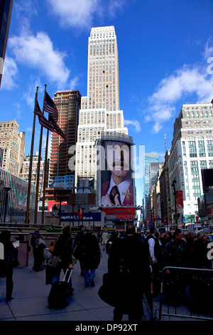 Manhattan at 33rd Street and 7th Avenue, New York City, NY, United States of America, USA - Stock Photo