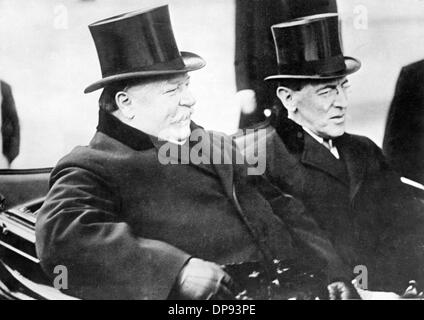 President of the United States of America, Woodrow Wilson (r), and his predecessor William Howard Taft are pictured - Stock Photo