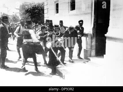 The assassins of the Austrian heir presumptive to the Austro-Hungarian throne Archduke Franz Ferdinand, Nedeljko - Stock Photo