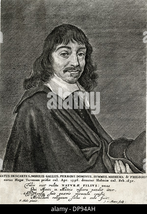Rene Descartes, French mathematician and philosopher - Stock Photo