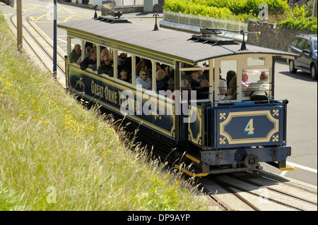 Great Orme Tram Climbing - Stock Photo