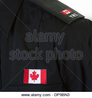 Detail of the uniform of a Canadian police student. - Stock Photo