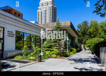 The South Visitors' Center, Temple Square, Salt Lake City, Utah, USA - Stock Photo