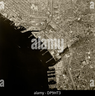 historical aerial photograph San Diego, California, 1966 - Stock Photo
