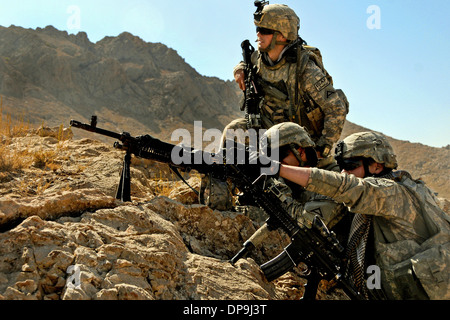 U.S. Soldiers with Charlie Company, 1st Battalion, 4th Infantry Regiment in Zabul province, Afghanistan - Stock Photo