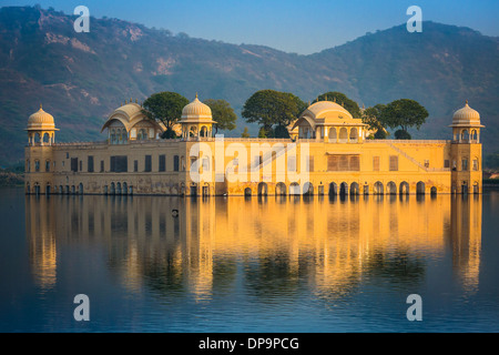 Jal Mahal (meaning 'Water Palace') is a palace located in the middle of the Man Sagar Lake in Jaipur, India - Stock Photo