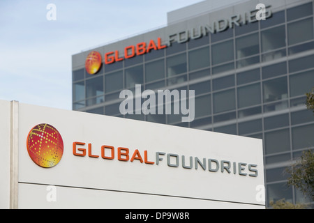 The headquarters of Global Foundries in Santa Clara, California.  - Stock Photo