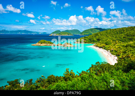 Trunk Bay, St John, United States Virgin Islands. - Stock Photo