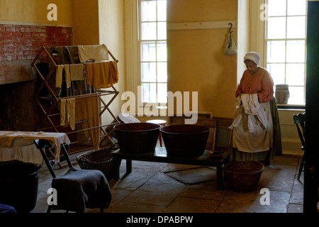 Fort Delaware Laundry Room and Laundress - Stock Photo