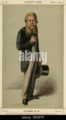 SIR STAFFORD HENRY NORTHCOTE 1st EARL IDDESLEIGH - Stock Photo