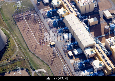 Aerial view of Didcot Coal Fired Power station - Stock Photo