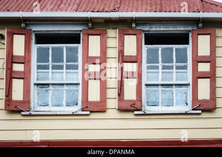 Colorful Building, St. John's, Antigua - Stock Photo