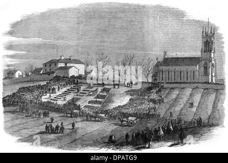 HARTLEY MINE DISASTER - Stock Photo