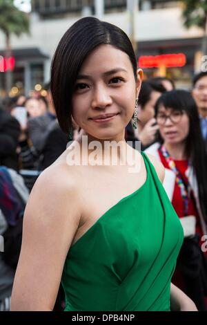 Los Angeles, USA. 10th Jan, 2014. Actress Michelle Chen arrives for the Hollywood TCL Microcinema Award Ceremony - Stock Photo