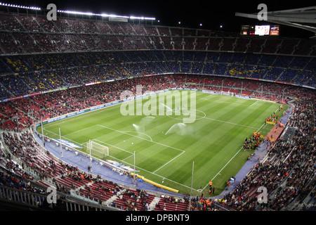 Camp Nou barcelona football team stadium - Stock Photo
