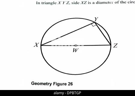 Mathematics graph on a white paper, closeup image - Stock Photo
