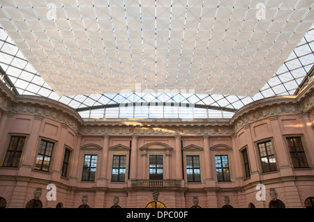 Inner courtyard, German historical museum (Deutsches Historisches Museum), Berlin Germany - Stock Photo