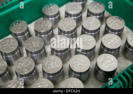 Coin die manufacturing at the Philadelphia branch of the United States Mint.  - Stock Photo