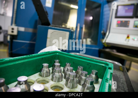 Quarter coin die manufacturing at the Philadelphia branch of the United States Mint.  - Stock Photo