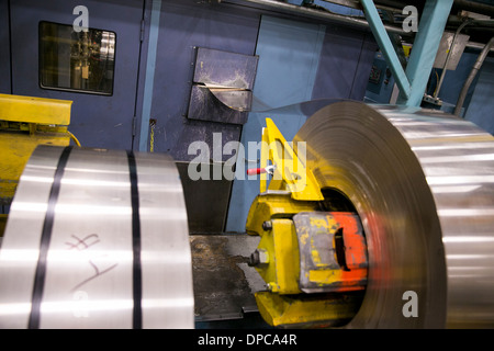 Coin production at the Philadelphia branch of the United States Mint. - Stock Photo