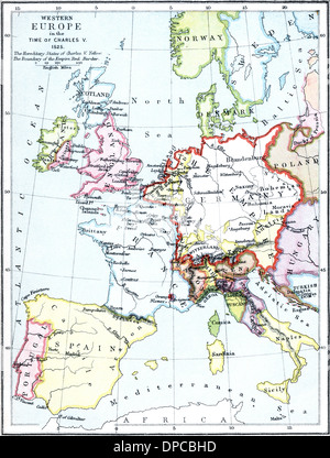 16th century map of Europe Published in Sienna in 1600 this