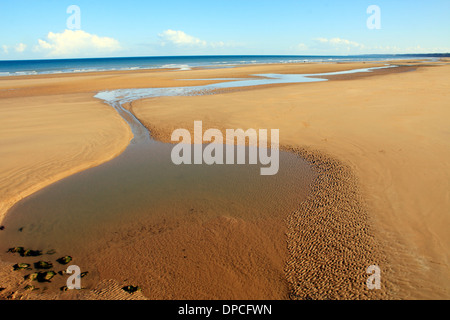 Omaha beach which was one of the five D-Day landing beaches in Normandy France - Stock Photo