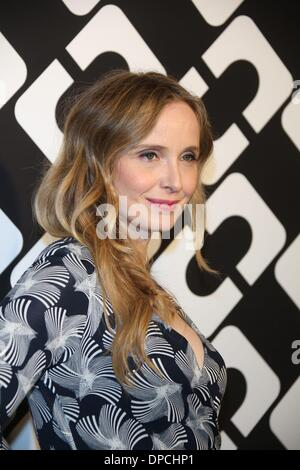 Los Angeles, USA. 10th Jan, 2014. French actress Julie Delpy attends Diane Von Furstenberg's Journey of A Dress - Stock Photo