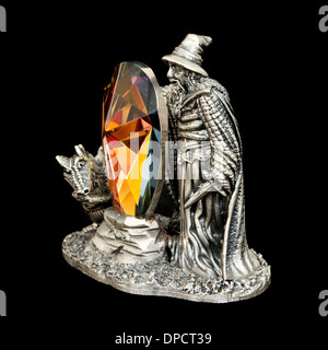 Myth and Magic 'The Crystal Shield' restricted availability study (No 9009) by The Tudor Mint (Watson Group) from - Stock Photo