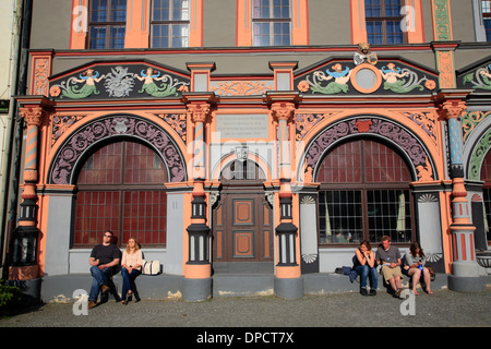 Cranach-Haus at  market square, Weimar, Germany, Europe - Stock Photo