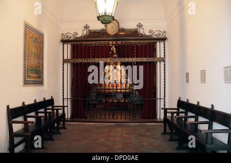 The Chapel inside the Plaza de Toros de la Real Maestranza de Caballería de Sevilla (bull ring), in Seville, Andalusia, - Stock Photo