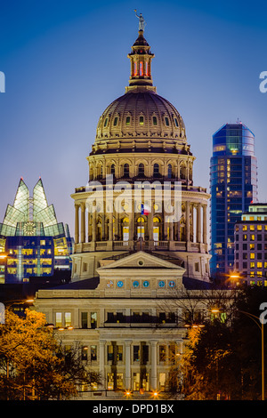 The Texas State Capitol, located in downtown Austin, Texas - Stock Photo
