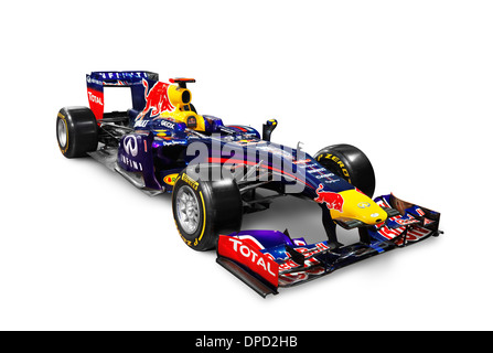2013 Infinity Red Bull Formula One race car RB9 isolated on white background with clipping path - Stock Photo