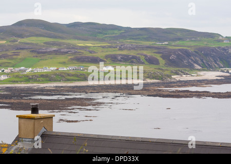 Coastal features and cliffs around Malin head on the most westerly point of Ireland - Stock Photo