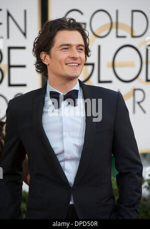 Beverly Hills, California, USA. 12th Jan, 2014. Actor Orlando Bloom arrives for the 71st annual Golden Globe Awards - Stock Photo