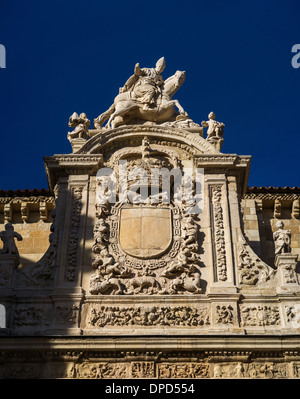 Detail of Puerta de Perdón. Basílica de San Isidoro in León, Spain - Stock Photo